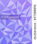 modern geometric polygon... | Shutterstock .eps vector #697388896
