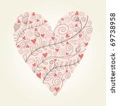 floral heart | Shutterstock .eps vector #69738958