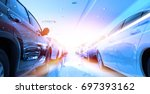 view of row new car at car  in... | Shutterstock . vector #697393162