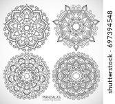 mandalas   coloring book | Shutterstock .eps vector #697394548