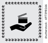 video icon cinema sign | Shutterstock .eps vector #697398166