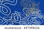 abstract background with... | Shutterstock .eps vector #697398226