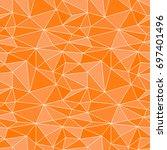 polygonal orange abstract... | Shutterstock .eps vector #697401496
