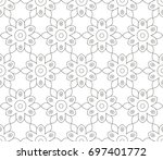 abstract seamless oriental... | Shutterstock .eps vector #697401772