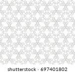 abstract seamless oriental... | Shutterstock .eps vector #697401802
