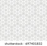 abstract seamless oriental... | Shutterstock .eps vector #697401832
