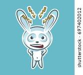 sticker emoji emoticon  emotion ... | Shutterstock .eps vector #697402012