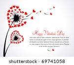 heart shaped dandelion   Shutterstock .eps vector #69741058