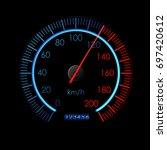speedometer icon. colorful info ...
