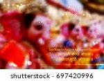 illustration of lord ganapati... | Shutterstock .eps vector #697420996