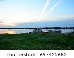 Sunrise At The River Volkhov ...