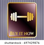gold badge or emblem with...   Shutterstock .eps vector #697429876
