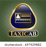 shiny badge with...   Shutterstock .eps vector #697429882