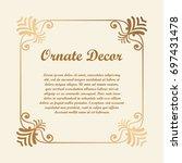 vector decorative element for... | Shutterstock .eps vector #697431478