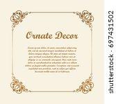 vector decorative element for... | Shutterstock .eps vector #697431502