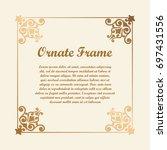 vector decorative element for... | Shutterstock .eps vector #697431556