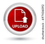 upload  document icon  isolated ... | Shutterstock . vector #697436092