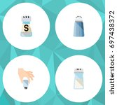 flat icon sodium set of pour ... | Shutterstock .eps vector #697438372