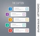outline healthy set of... | Shutterstock .eps vector #697444342