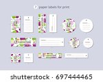 vector paper clothing labels... | Shutterstock .eps vector #697444465
