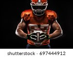american football sportsman... | Shutterstock . vector #697444912