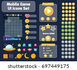 colorful game user interface... | Shutterstock .eps vector #697449175