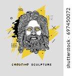 creative modern classical... | Shutterstock .eps vector #697450072