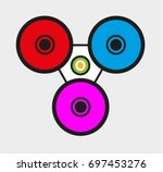 vector spinner | Shutterstock .eps vector #697453276