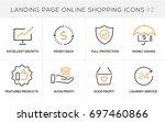 flat line design concept icons... | Shutterstock .eps vector #697460866