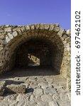ancient roman building remnants ... | Shutterstock . vector #697462102