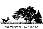 Illustration With Trees And...