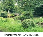 summer countryside morning... | Shutterstock . vector #697468888