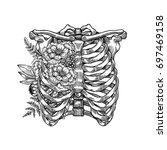 Tattoo Anatomy Vintage Floral...