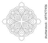 flower mandala vector... | Shutterstock .eps vector #697477456