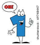 blue number with speech bubble | Shutterstock . vector #69748447