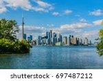 beautiful toronto's skyline... | Shutterstock . vector #697487212