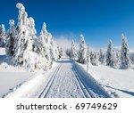 wintry landscape scenery with...   Shutterstock . vector #69749629