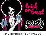Pop Art Halloween Evil Zombie...