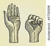 hands original drawings | Shutterstock .eps vector #69750508