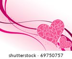 valentines day background with... | Shutterstock .eps vector #69750757