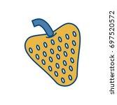 strawberry fruit icon   Shutterstock .eps vector #697520572