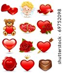 vector illustration   valentine'... | Shutterstock .eps vector #69752098