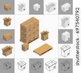 illustration. set of icons... | Shutterstock . vector #697540792