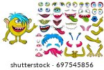 creating a monster from a set... | Shutterstock .eps vector #697545856