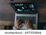 business concept. businessman...   Shutterstock . vector #697555846
