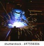 welding | Shutterstock . vector #697558306