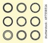 vintage round frame element | Shutterstock .eps vector #697558516