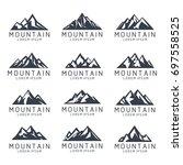 mountain shape icon logo...   Shutterstock .eps vector #697558525