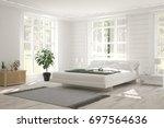 inspiration of white minimalist ... | Shutterstock . vector #697564636