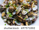 fried clam | Shutterstock . vector #697571002